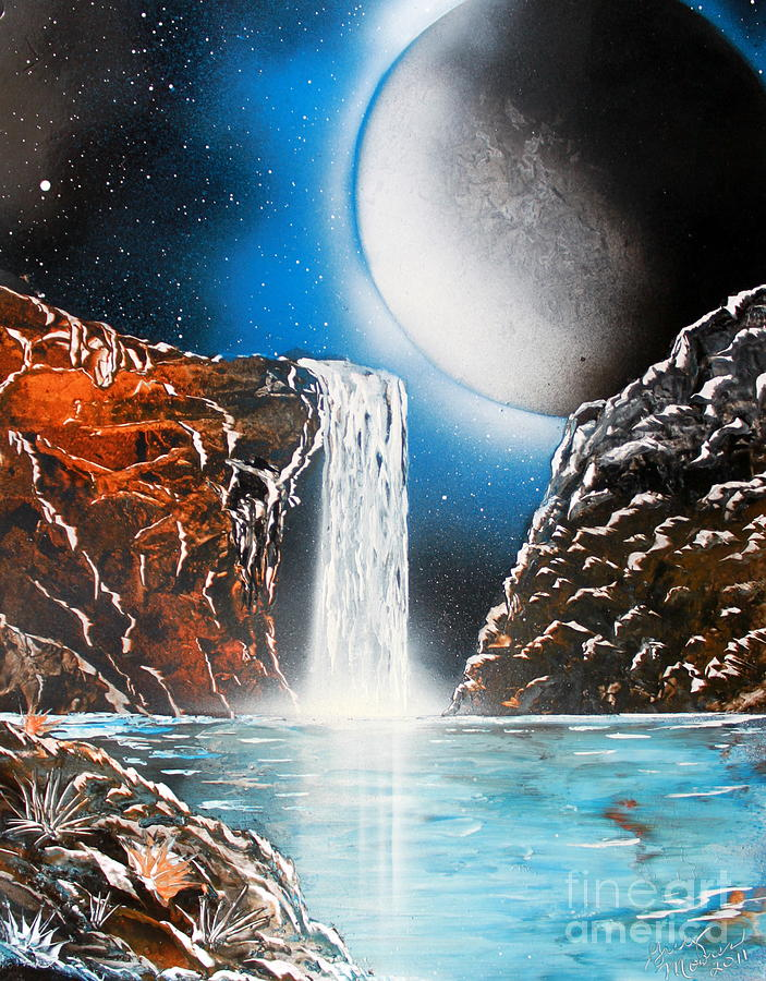 Planets Painting - Night Falls 4679 by Greg Moores