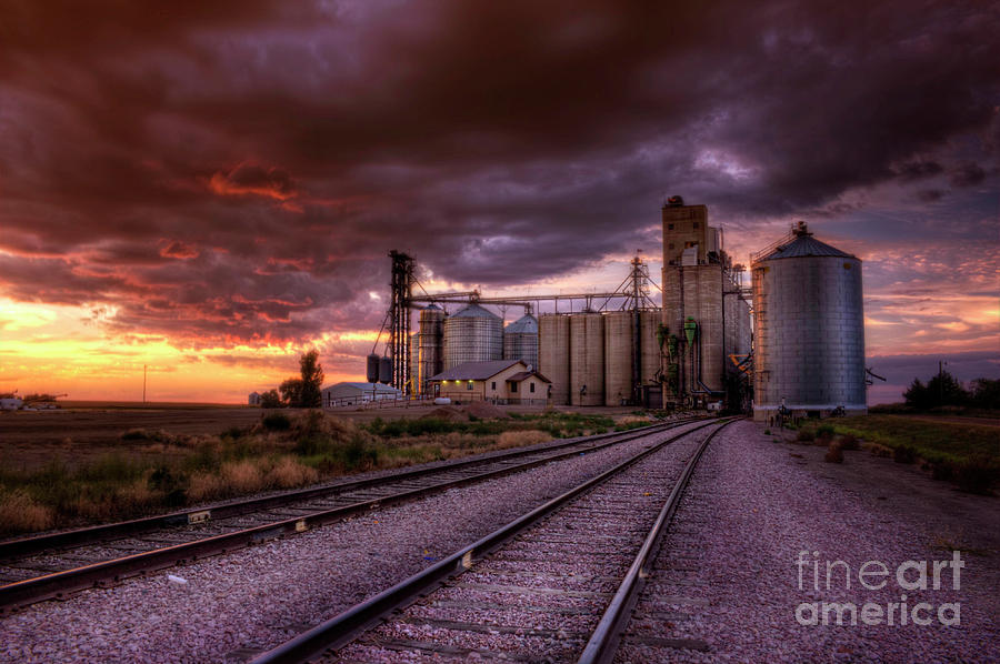 Night Falls at Oahe Grain by Michele Richter