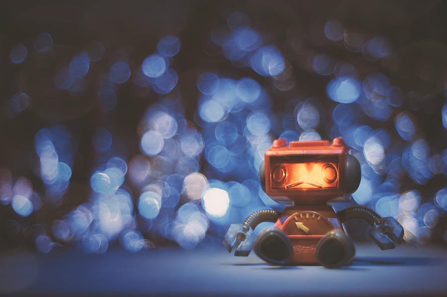 Night Falls On The Lonely Robot Photograph