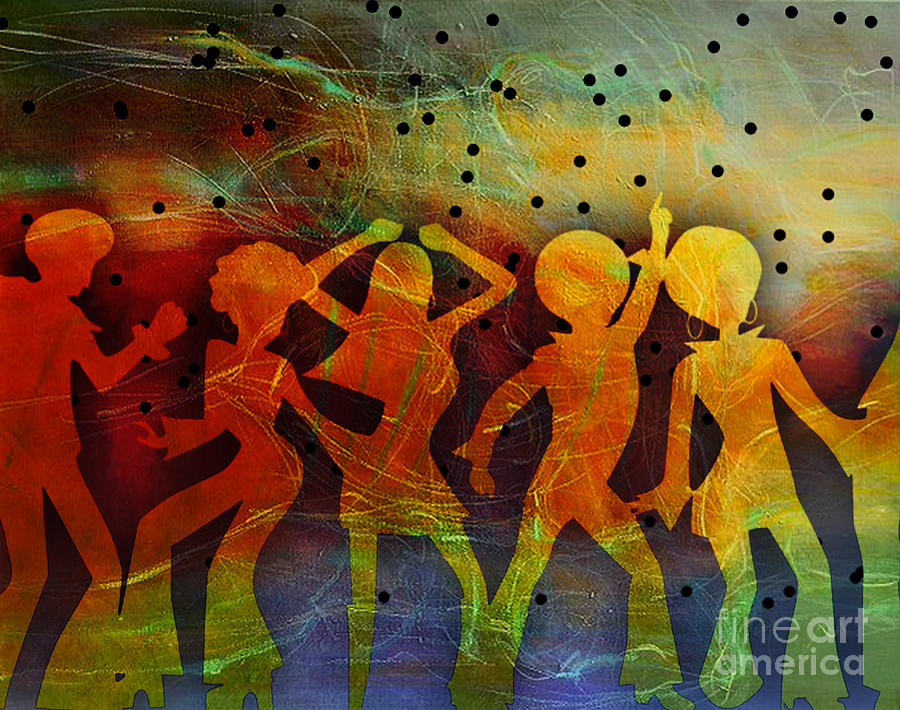 Disco Mixed Media - Night Fever by Tammera Malicki-Wong