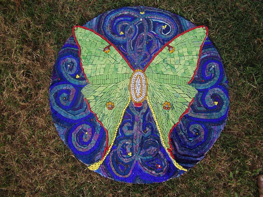 Mosaic Glass Art - Night Flight by Kimberly Barrow