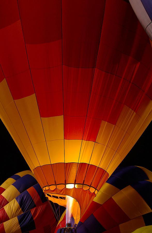 Balloon Photograph - Night Flight by Mike  Dawson