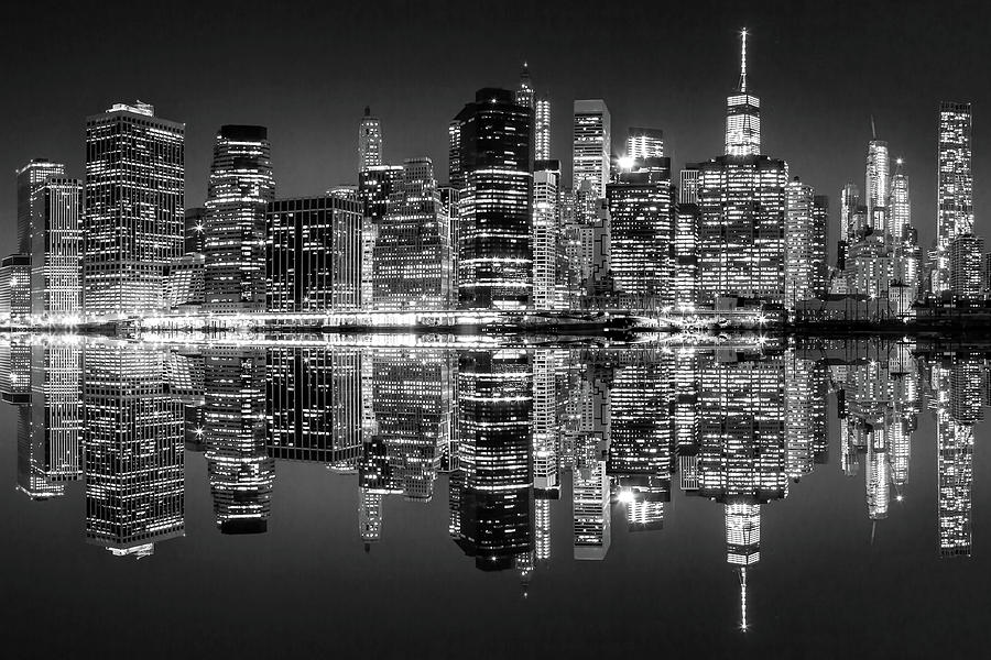 New York City Skyline Photograph - Night Grooves by Az Jackson