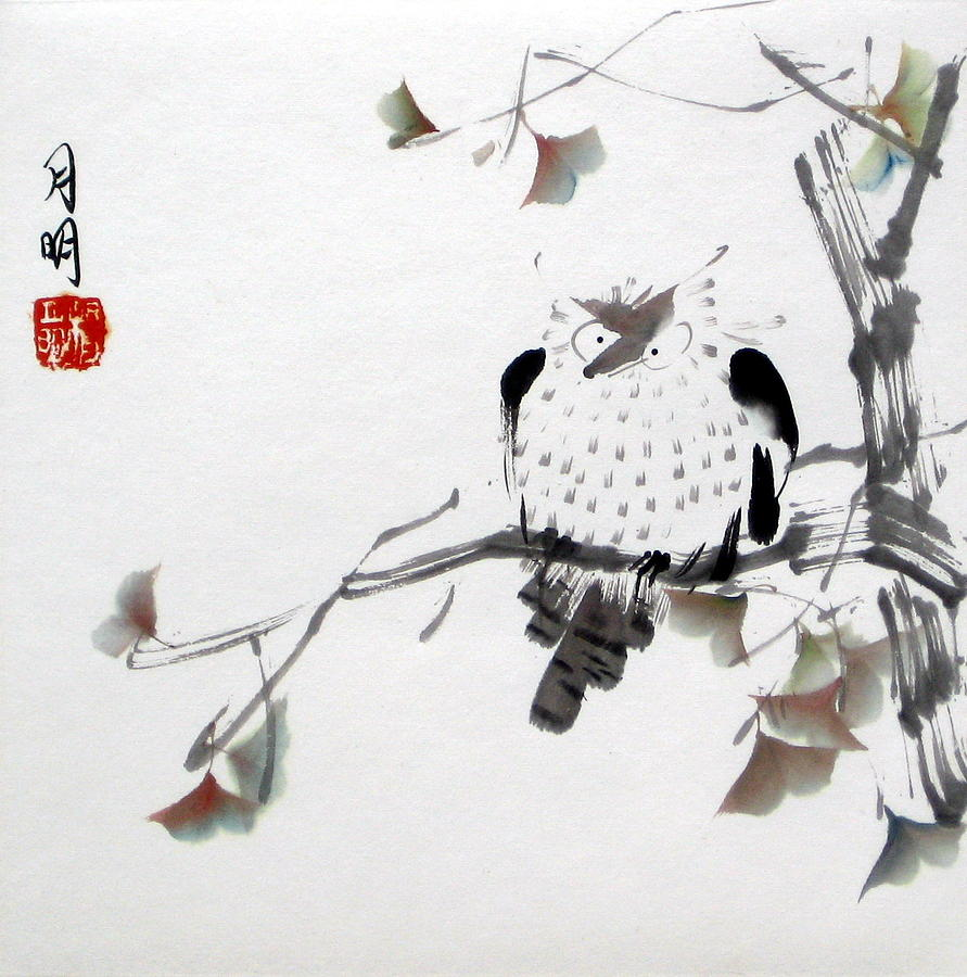 Chinese Painting Painting - Night Hunter by Ming Yeung