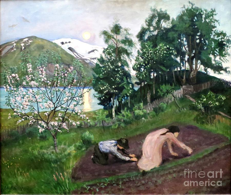 Night In Spring Painting
