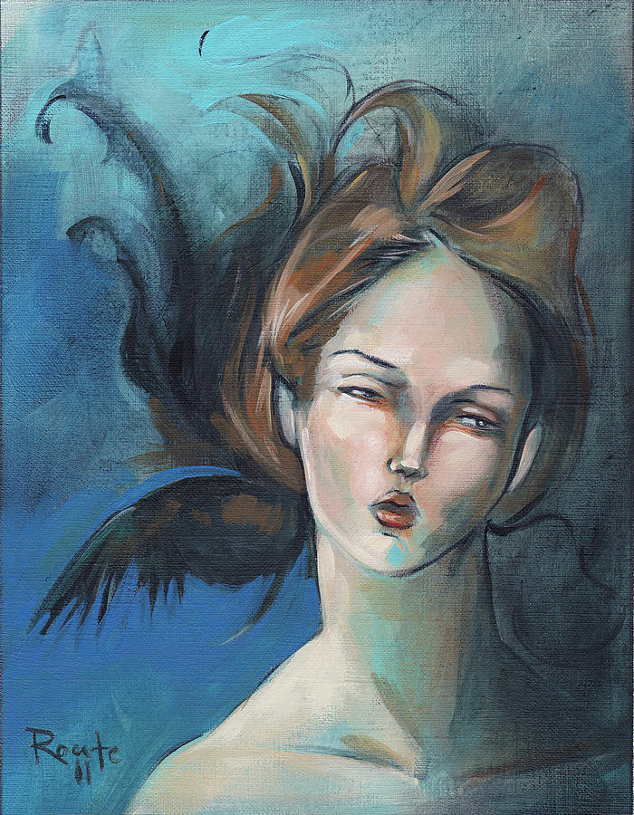 Woman Painting - Night by Jacque Hudson