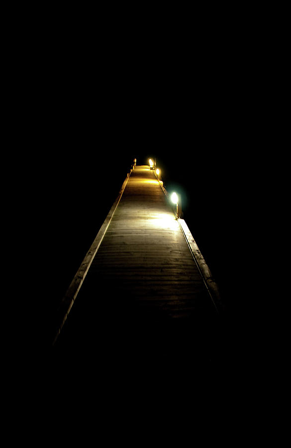 Jetty Photograph - Night Jetty by Andrew Dickman