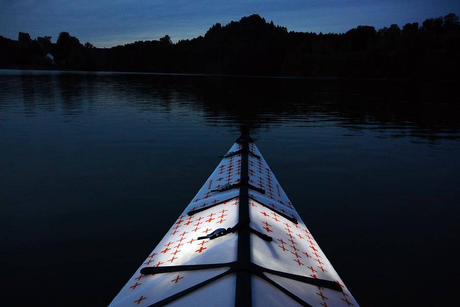 Kayaking Photograph -  Night Kayaking on Lake Gruyere by Two Small Potatoes
