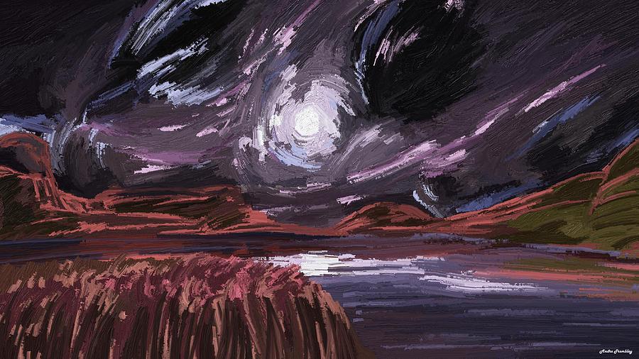 Landscape Digital Art - Night land by Andre Tremblay