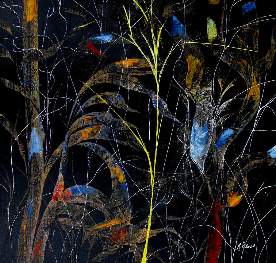 Abstract Painting - Night Life by Ruth Palmer