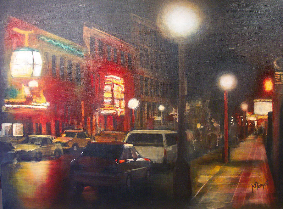 Victoria Painting - Night Life by Victoria Heryet