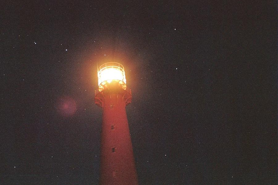 Lighthouse Photograph - Night Light by Gregory Barger
