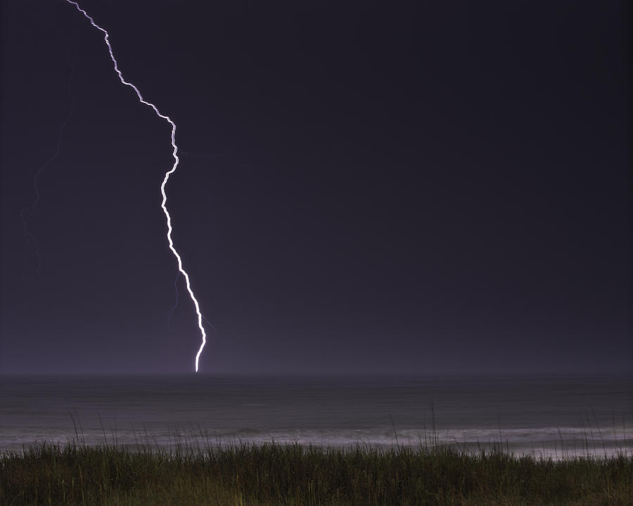 Lightning Storm Photograph - Night Lighting Storm Over Myrtle Beach South Carolina by Gray Artus & Night Lighting Storm Over Myrtle Beach South Carolina Photograph ... azcodes.com
