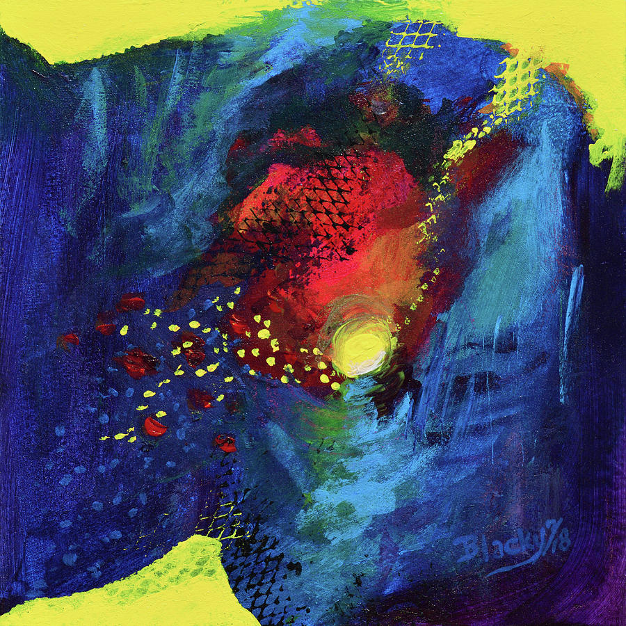 Colorful Abstract Mixed Media - Night Moods by Donna Blackhall