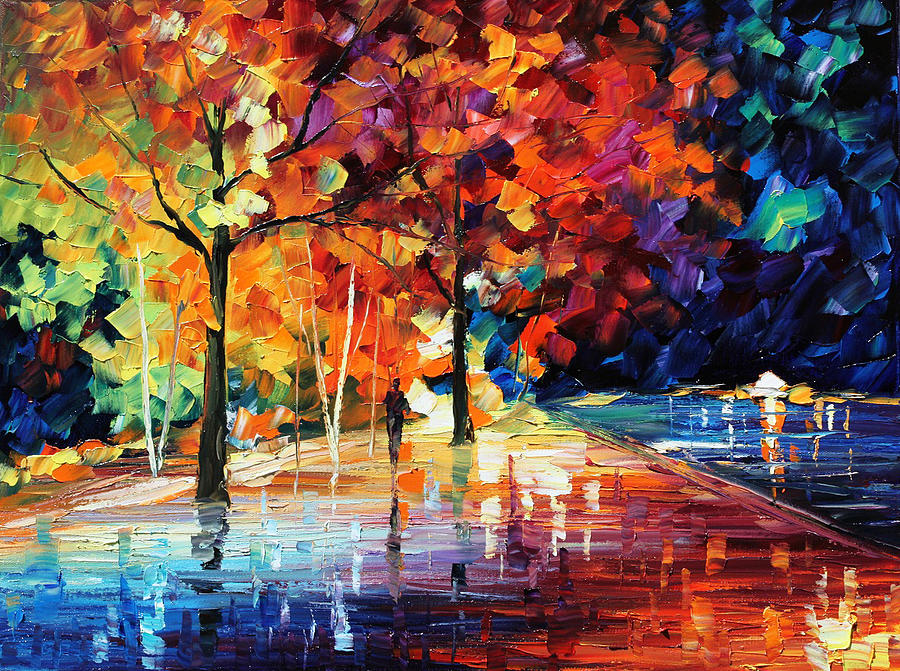 Night New Original Painting By Leonid Afremov