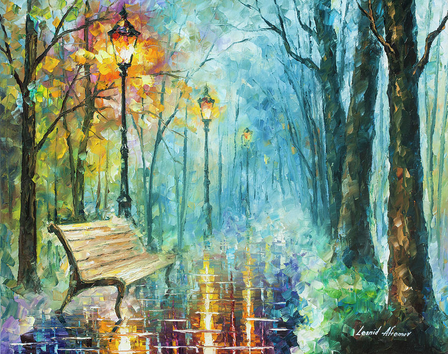 Painting Painting - Night Of Inspiration by Leonid Afremov