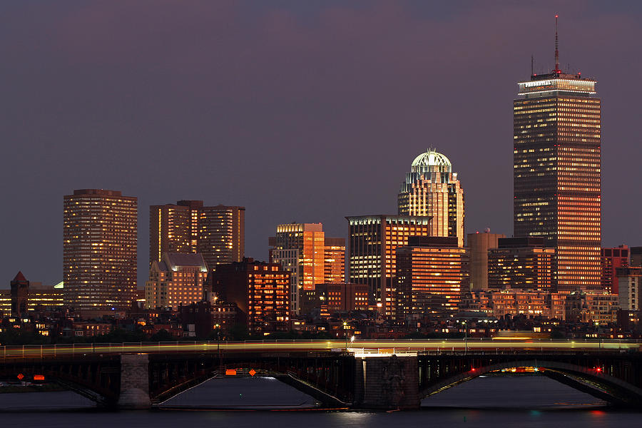 Boston Photograph - Night Of Light by Juergen Roth