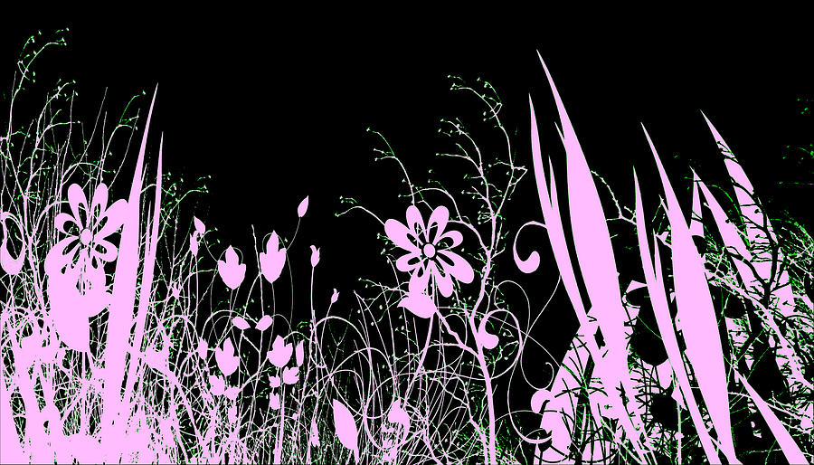 Flowers Digital Art - Night Of The Flowers by Evelyn Patrick