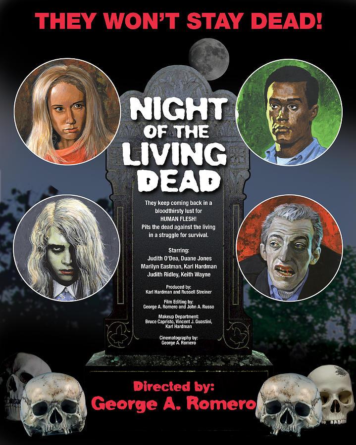 Horror Mixed Media - Night Of The Living Dead by Harold Shull