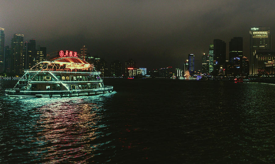 Night on the Huangpu River by Nisah Cheatham