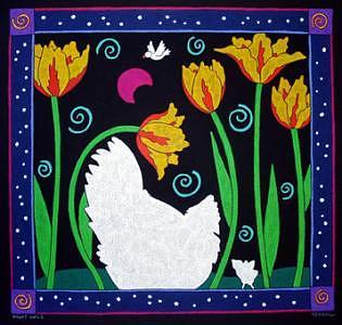 Night Owls Painting by Nancy  Coffelt