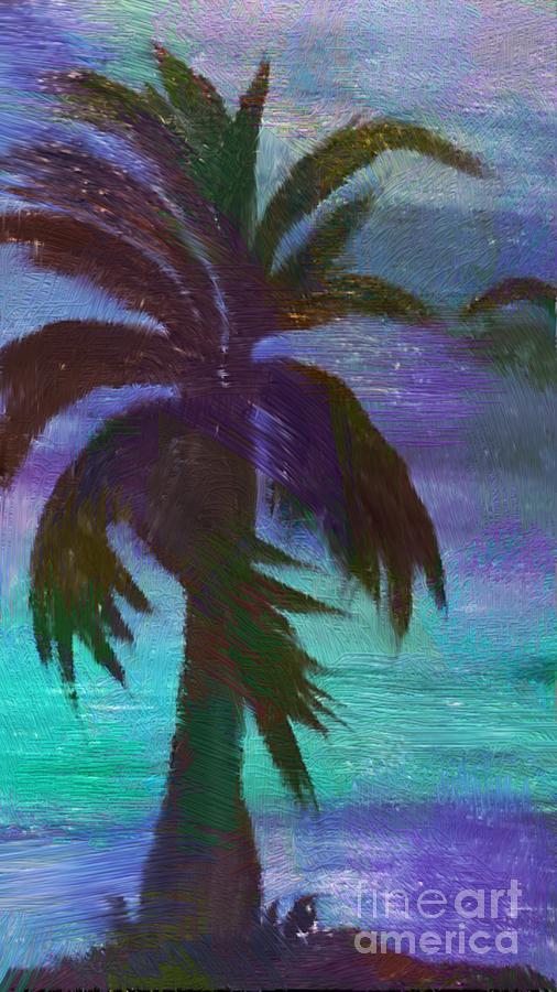 Palm Mixed Media - Night Palm by Karen Nicholson