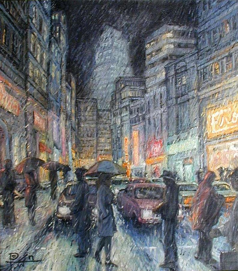 Night Painting - Night Rain by Henry Potwin