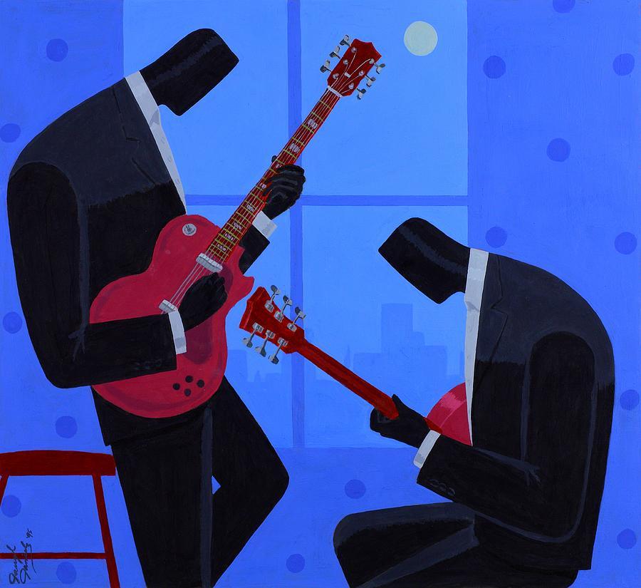 Music Painting - Night Rhythms by Darryl Daniels