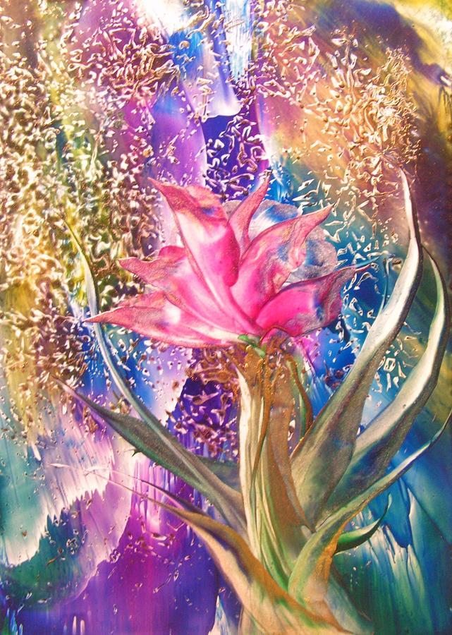 Floral Painting - Night Rose by John Vandebrooke