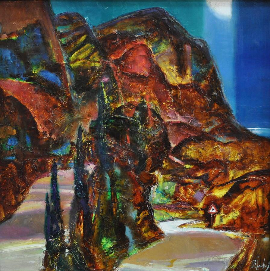 Oil Painting - Night Serpentine by Sergey Ignatenko