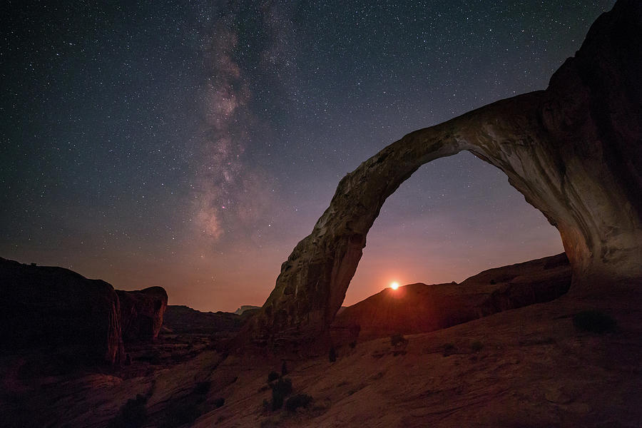 Astrophotography Photograph - Night Sky At Corona Ach by Alex Conu