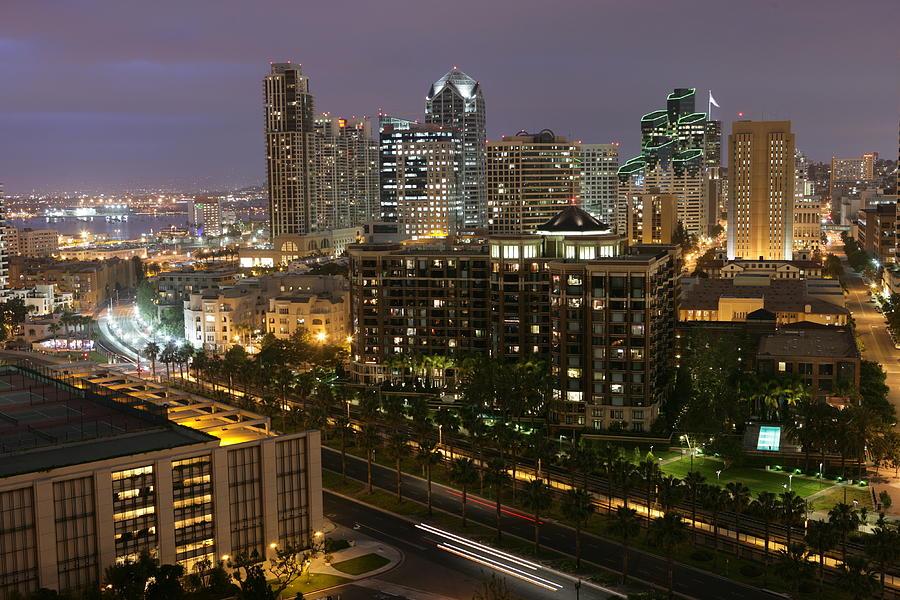 Skyline Photograph - Night Skyline by Tawann Simmons