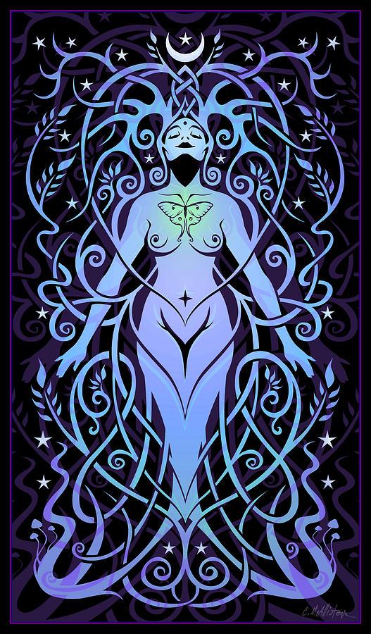 Goddess Digital Art - Night Song by Cristina McAllister