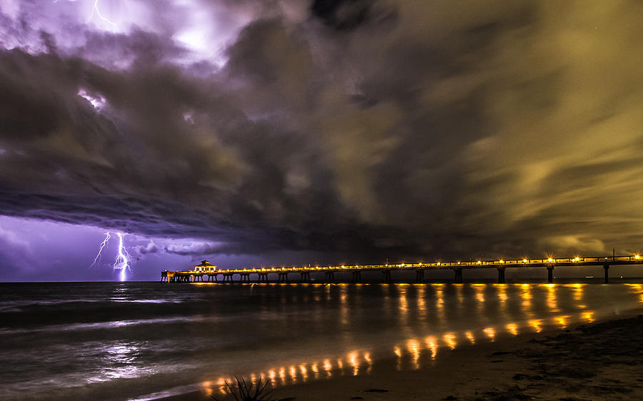 Lighting Photograph - Night Storm by Kevin Stacey