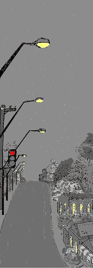 Night Streetscape Digital Art by Bethwyn Mills