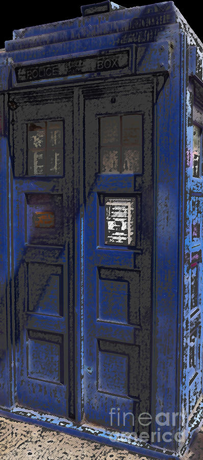 Dr. Who Photograph - Night Tardis by Rhonda Chase