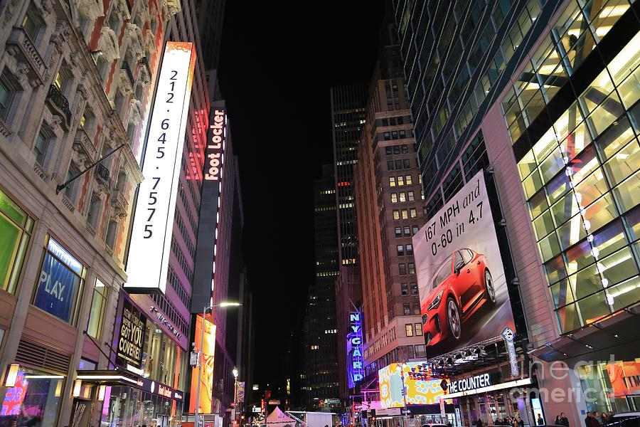 Destination Photograph - Night Time At Times Square by Douglas Sacha