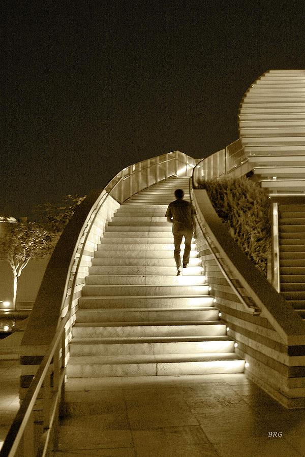 Night Life Photograph - Night Time Stairway by Ben and Raisa Gertsberg