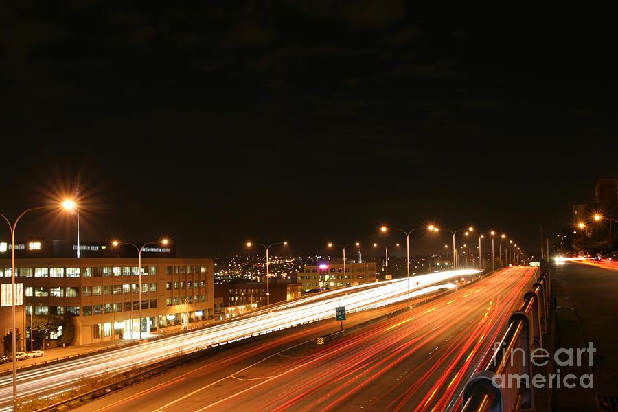 Public Photograph - Night Time Traffic by Robert Torkomian