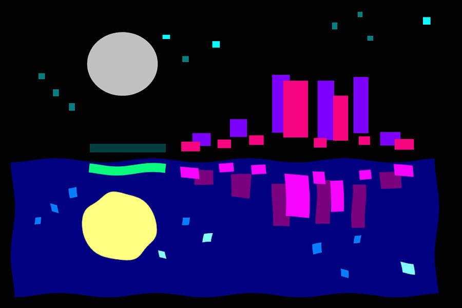 Night View Digital Art by John Lawrence