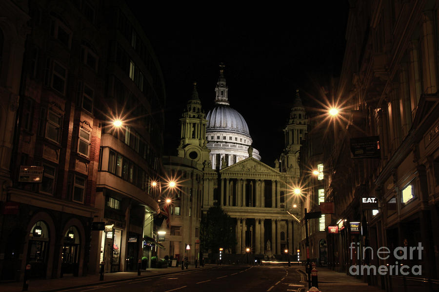 Night view of St Pauls Cathedral  by Jasna Buncic