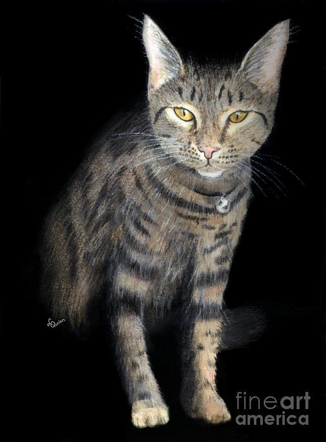 Cat Painting - Night Vision by Lynn Quinn