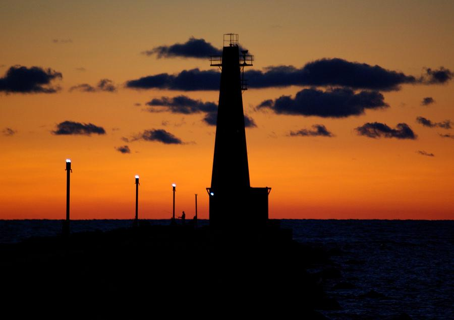 Lighthouse Photograph - Night Watch by Linda Mishler
