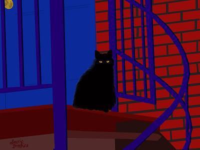 Night Watchman Digital Art by Laurie Brookes