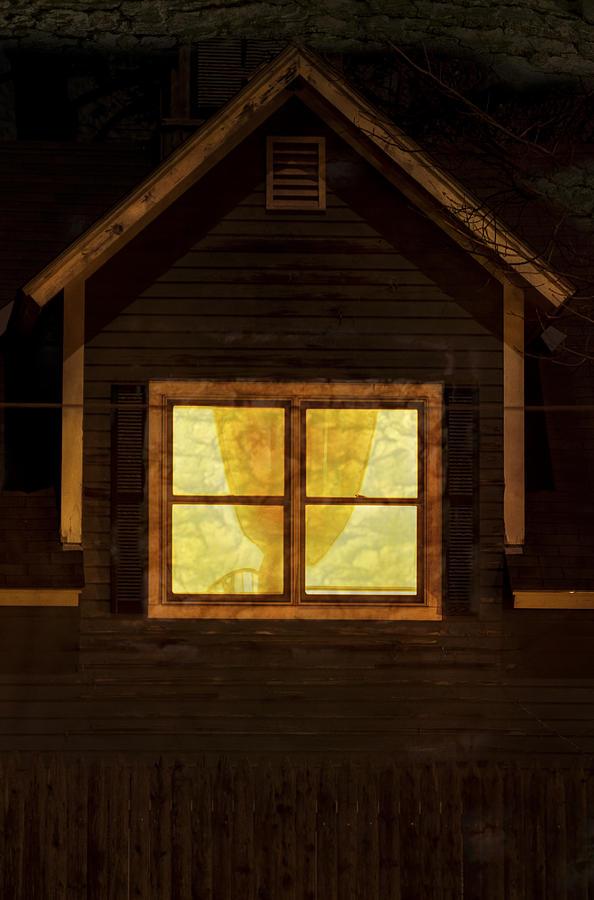 Brattleboro Vermont Photograph - Night Window by Tom Singleton