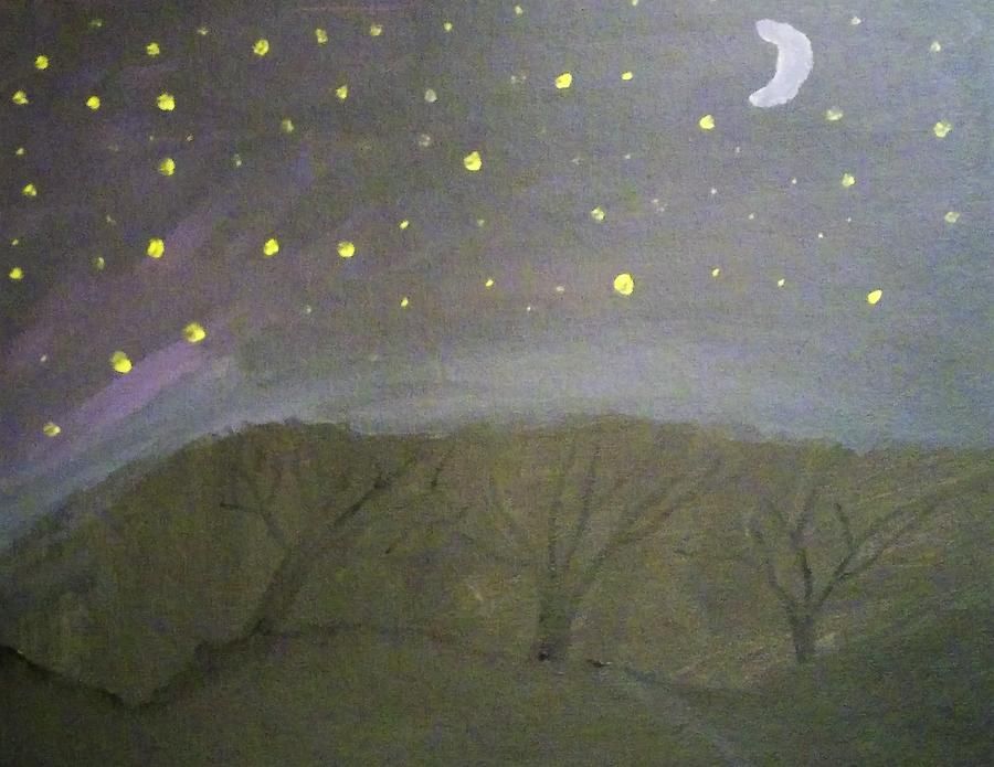 Night Woods Painting By Dyllon Jagneaux