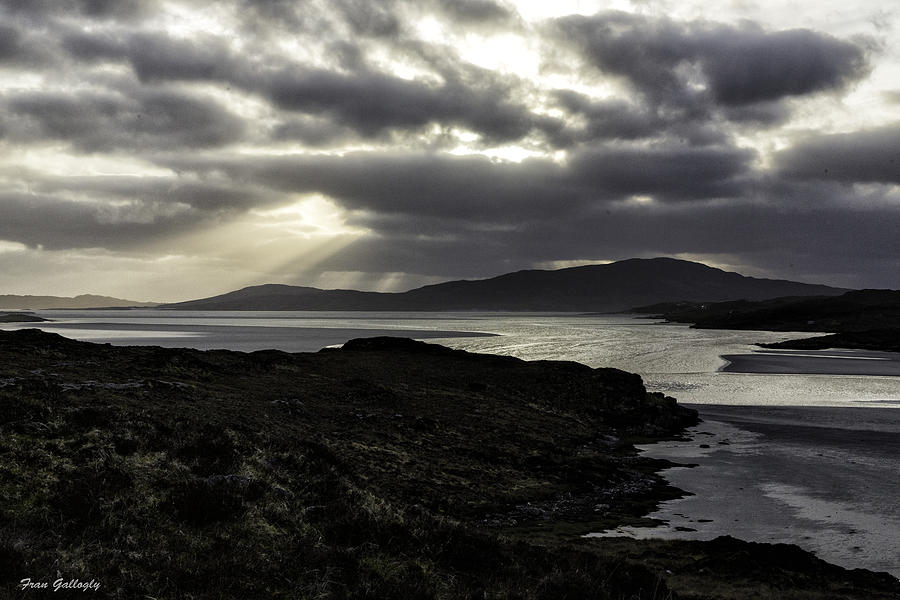 Nightfall Photograph - Nightfall Isle Of Harris by Fran Gallogly