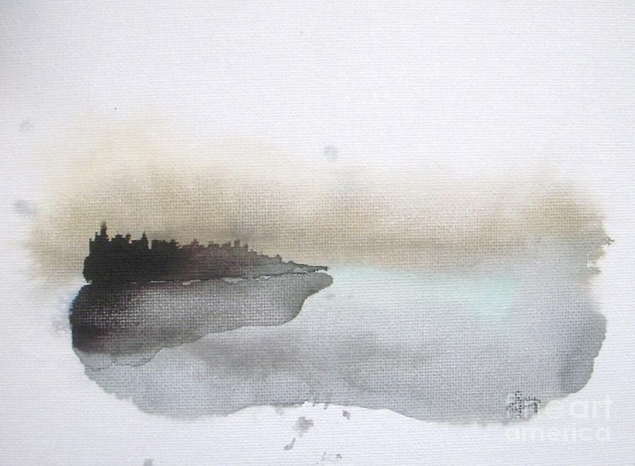 Seascape Painting - Nightfall on the Lake  by Vesna Antic