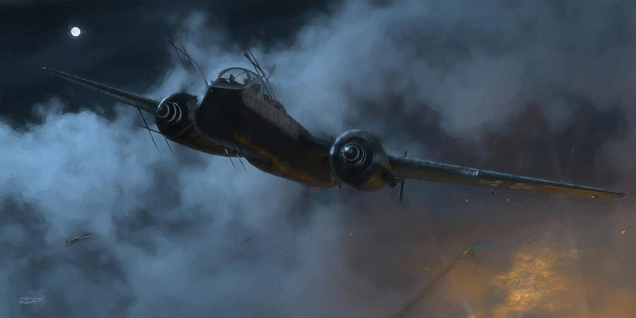 Nightfighter - Painterly by Robert Perry