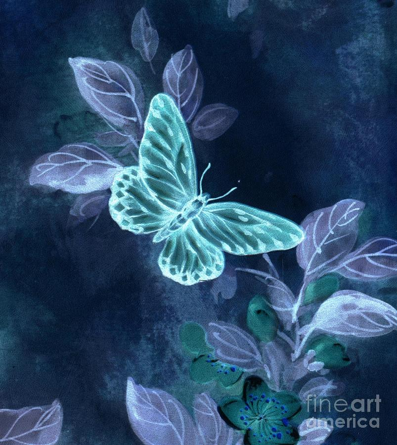 Buterfly Digital Art - Nightglow Butterfly by Writermore Arts